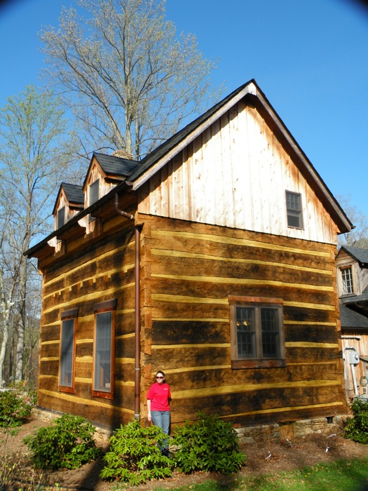 Our products we design and make new hand hewn log cabins for Hewn log cabin kits